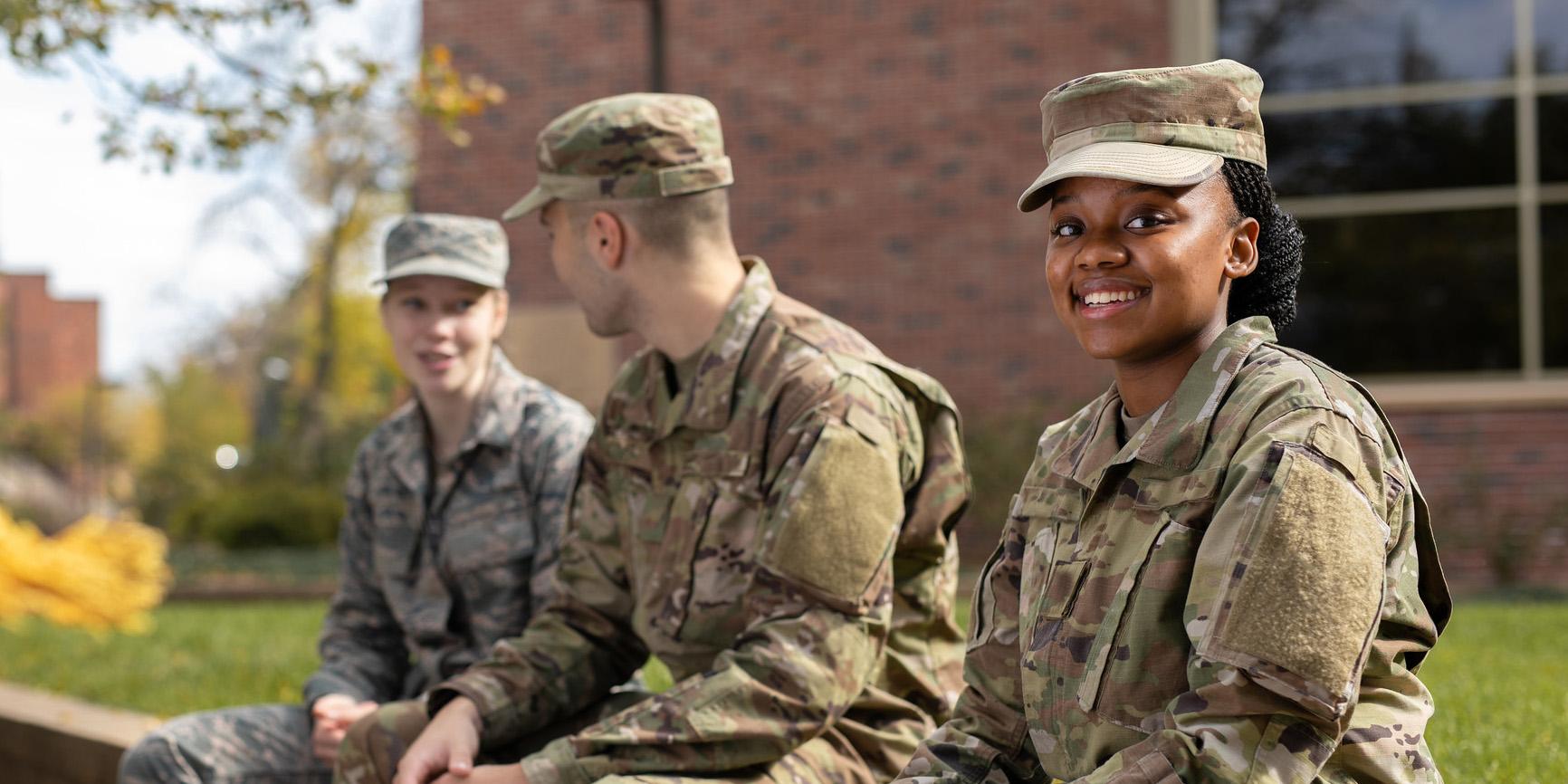 Military students at Bethel University